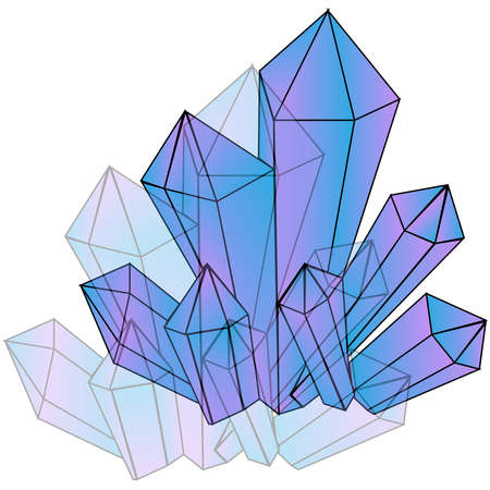 Picture of crystals on a background