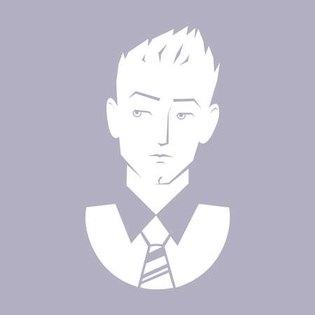 The guy icon. Vector illustration