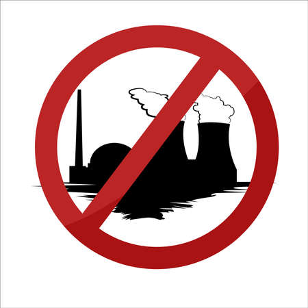 No Air Polution by Factories Vector illustration