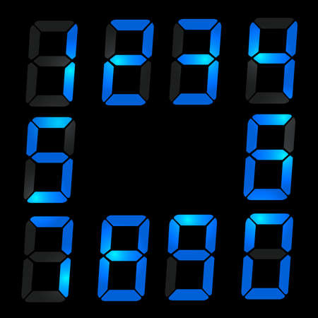Simple Digital number set of seven segment type