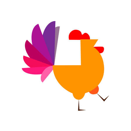 Colored picture of a rooster on a background  イラスト・ベクター素材
