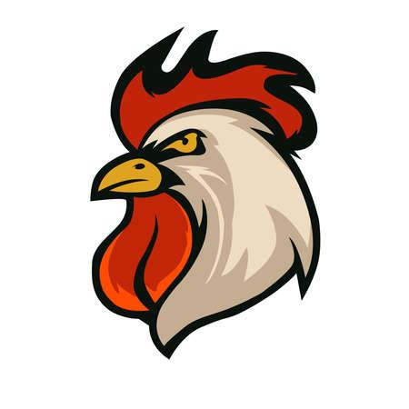 Rooster. illustration on white background Vector Illustration