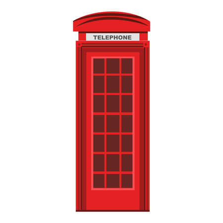 Picture of red phone booth on a background Vektorgrafik