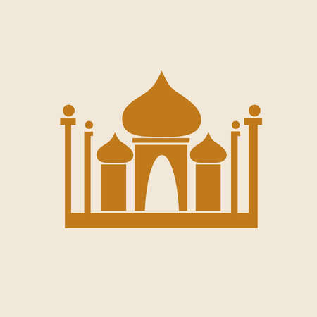 Just a Temple Icon. illustration.