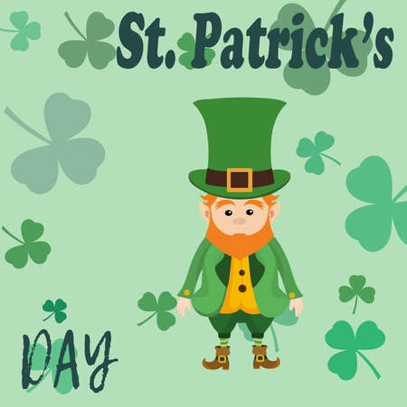 Clover background. Picture for St. Patrick's Day Illustration