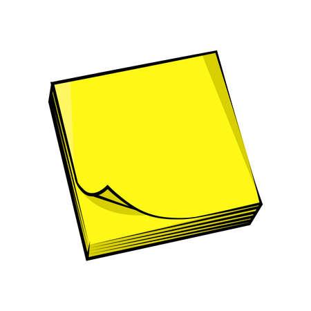 Sticky notes logo on a background