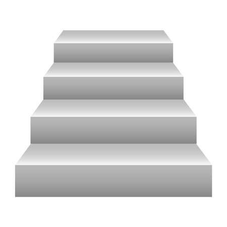 Picture of realistic stairs on a background