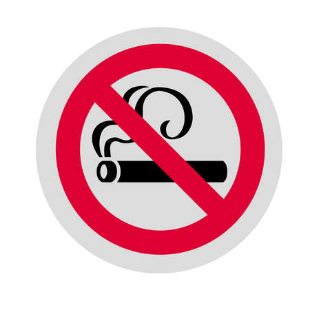 No smoking sign on a background