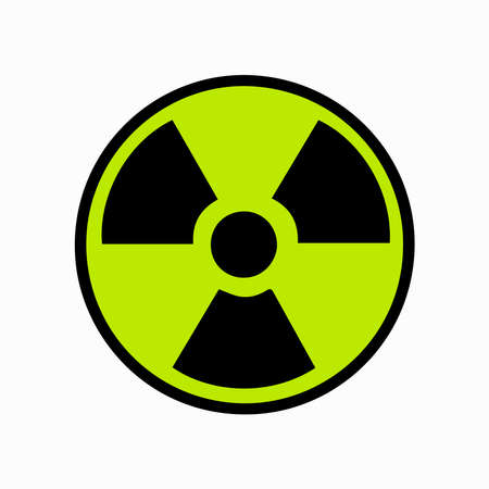 Nuclear icon on a background