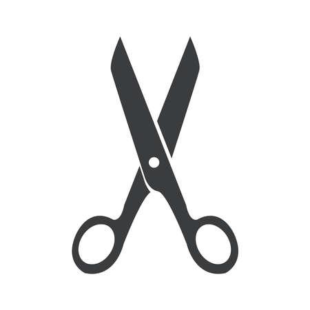 icône de ciseaux sur un fond