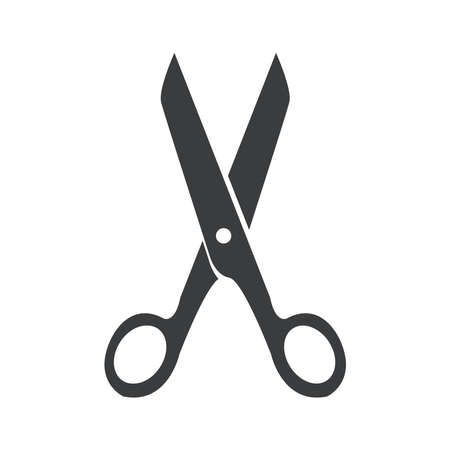 scissors icon on a background