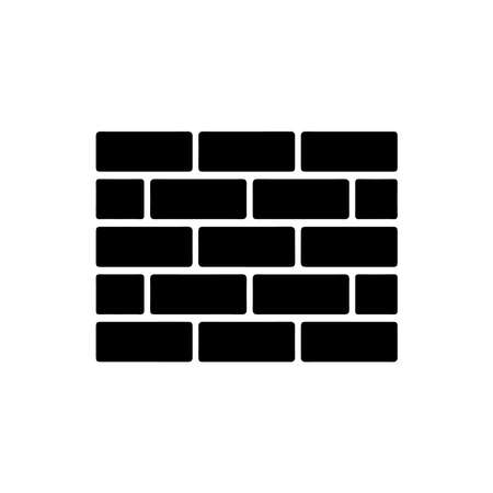 Picture of a brick wall on a white background. Иллюстрация