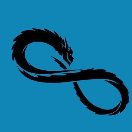 Dragon Infinity Symbol vector illustration