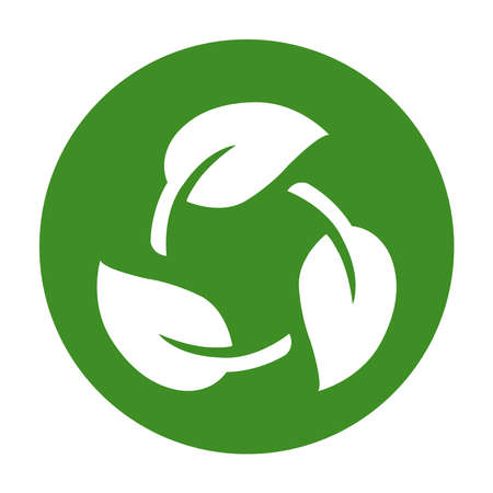 Biodegradable recyclable plastic free package icon.