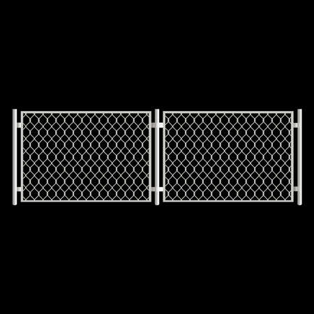 Realistic gate on black background