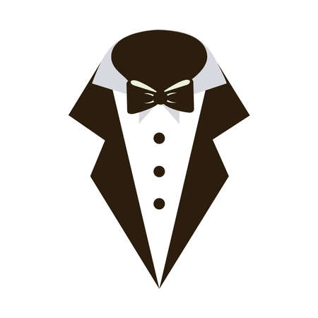 Tuxedo and butterfly icon on shirt
