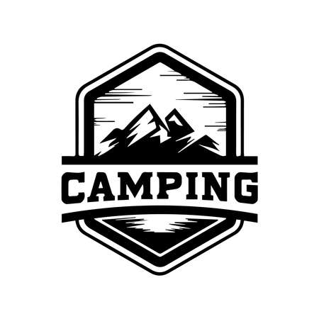 Mountains logo. Travel vacation relaxation nature