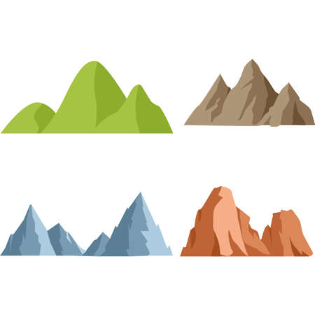 Set of mountains on a background