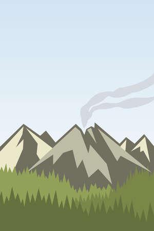 Mountains logo. Travel, vacation, relaxation, nature. Illustration