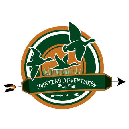 Hunting club logo on a white background Logo