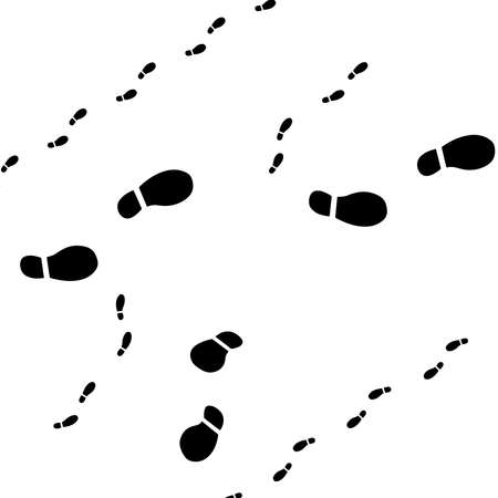 Foot steps icon. Logo Vector illustration Vettoriali