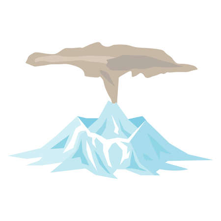 Volcano icon on a white background