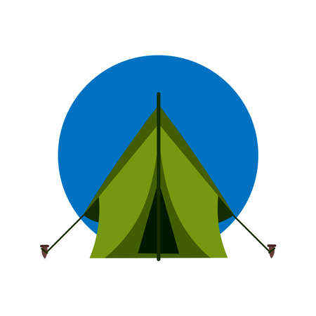 Picture of a tent on a white background