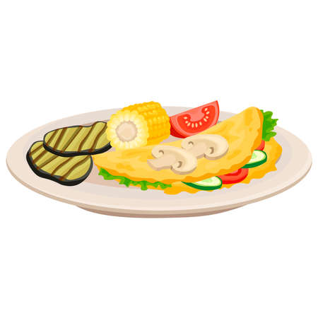 Picture of a sandwich with vegetables on a white background.