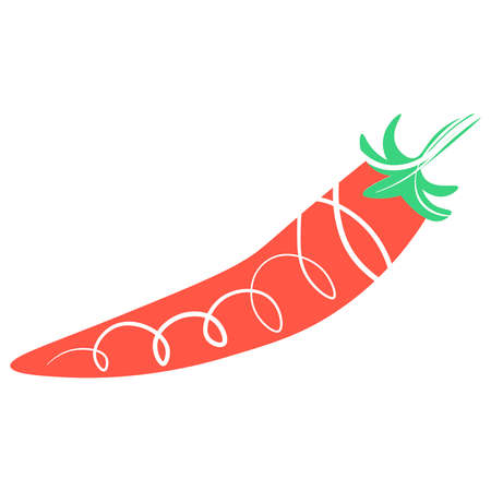 Picture of chili peppers on a white background. Иллюстрация
