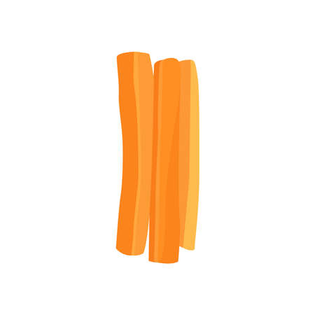 Picture of slicing carrots on a white background. Ilustrace