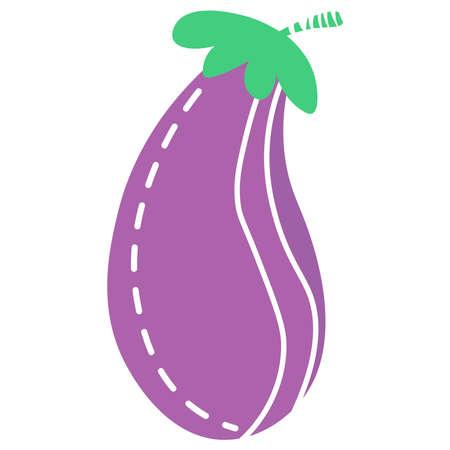 Eggplant icon on a white background. Ilustração