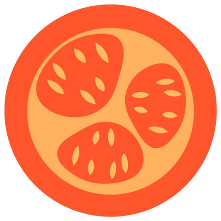 Tomatoes icon on a white background