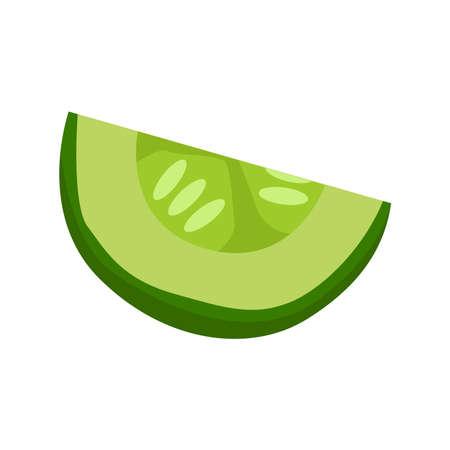 Cucumber slice icon on a white background. Ilustração