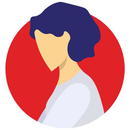 Girl icon on a white background.
