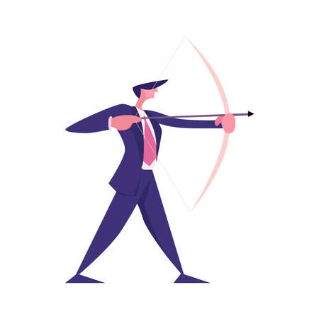 Archer icon on a white background Vetores