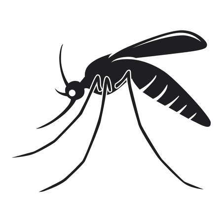 Mosquito icon on a white background.