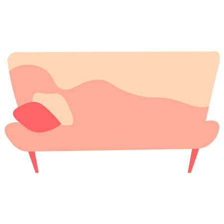 Picture of a bed on a white background. Ilustração