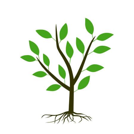Tree icon on a white background. Vektorgrafik