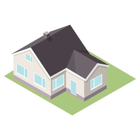 Picture of a penthouse. Picture of a stylish house. Vector illustration.