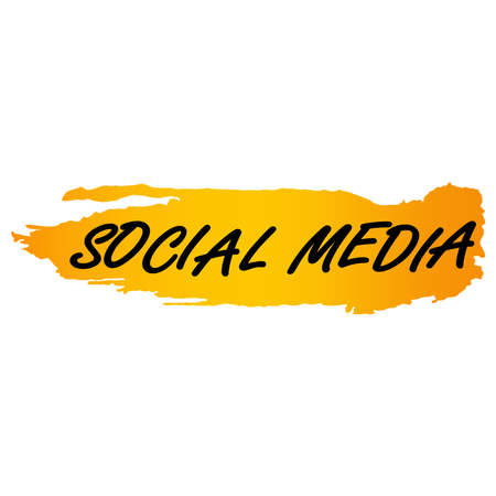 picture of social media on a white background. Vector illustration.