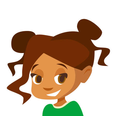 Girl on a white background. Vector illustration 일러스트