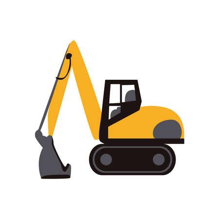 Excavator icon on a white background. Illusztráció