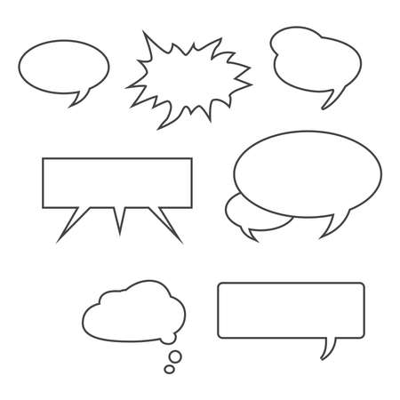 Set of message icons. Vector Vectores