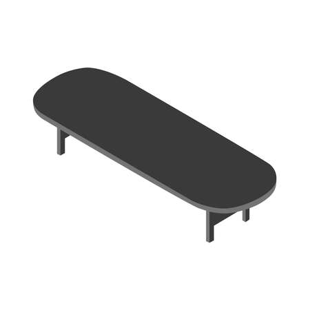 3D picture of a table on a white background.