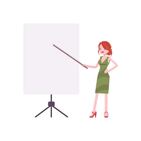picture of a teacher on a white background.