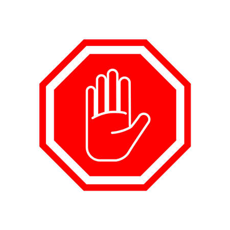 Picture of stop sign on white background