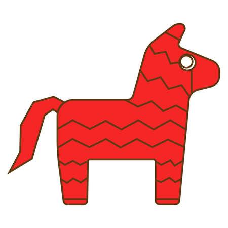 Mexican pinata icon. Vector illustration. Ilustração