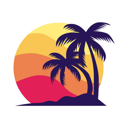 Palm tree icon on a white background.