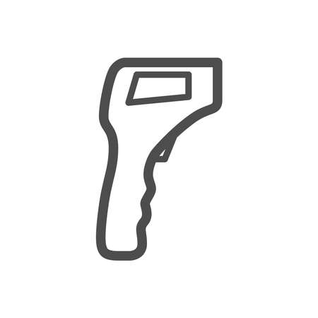 Thermometer icon on a white background. 免版税图像 - 157998510