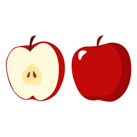 Apples icon on a white background. Ilustracja